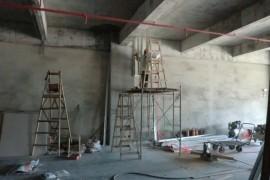 【康蓝最新项目施工现场】国际E城办公室装修设计工程_康蓝装饰公司