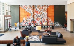 深圳装饰公司分享美国Key Center办公楼大厅装修设计_康蓝装饰公司