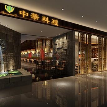 康蓝装饰最新项目案例:中华料理餐厅装饰设计工程
