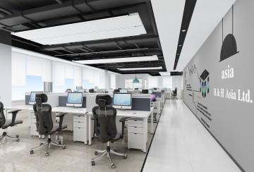 深圳松博信息咨询公司办公室设计项目案例_康蓝装饰